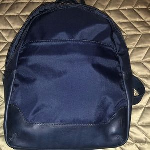 Navy blue nylon frye backpack